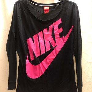 Nike Pink & Black Top - Excellent Condition, M